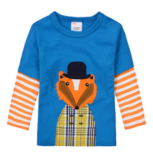 High Quality Fall Winter Cute Baby Boy Girl Long Sleeve Cotton T shirts Kids Infant Clothing