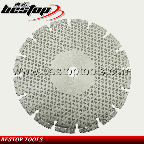 Bestop Hot Sale Durable and Sharp Vacuum Brazed Diamond Blades for Metal Cutting