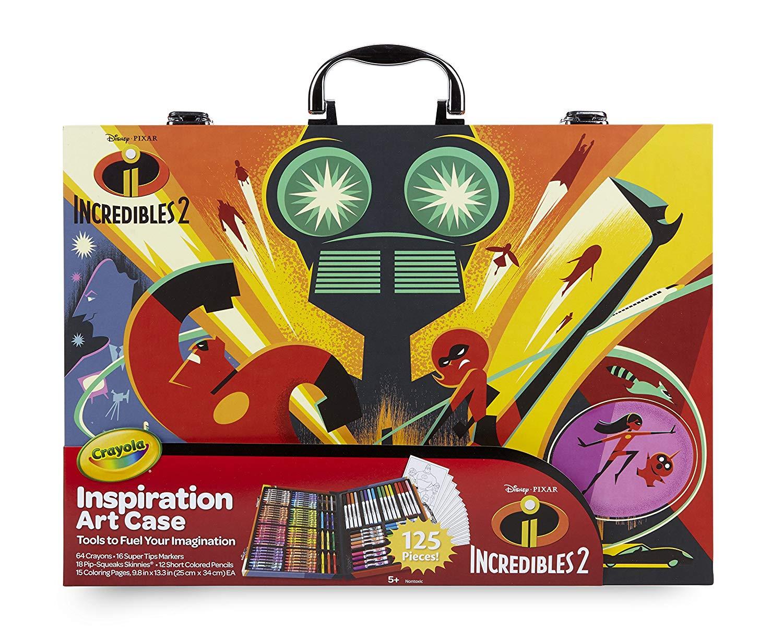 3505e5076 Get Quotations · Crayola Incredibles 2 Inspiration Art Case, 120 Pieces