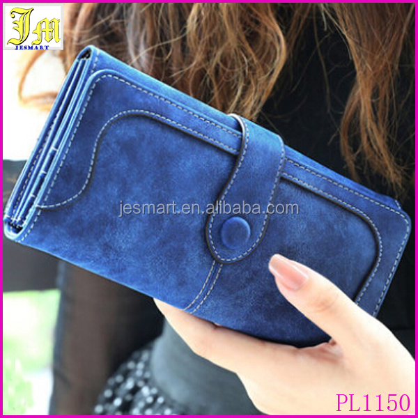 New Fashion Retro Long Brand Card Holder Purse Matte Stitching Lady Wallet For Phone