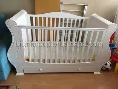Slaapkamer Voor Baby.Bisini Amerikaanse Stijl Antieke Massief Houten Slaapkamer Baby Slee