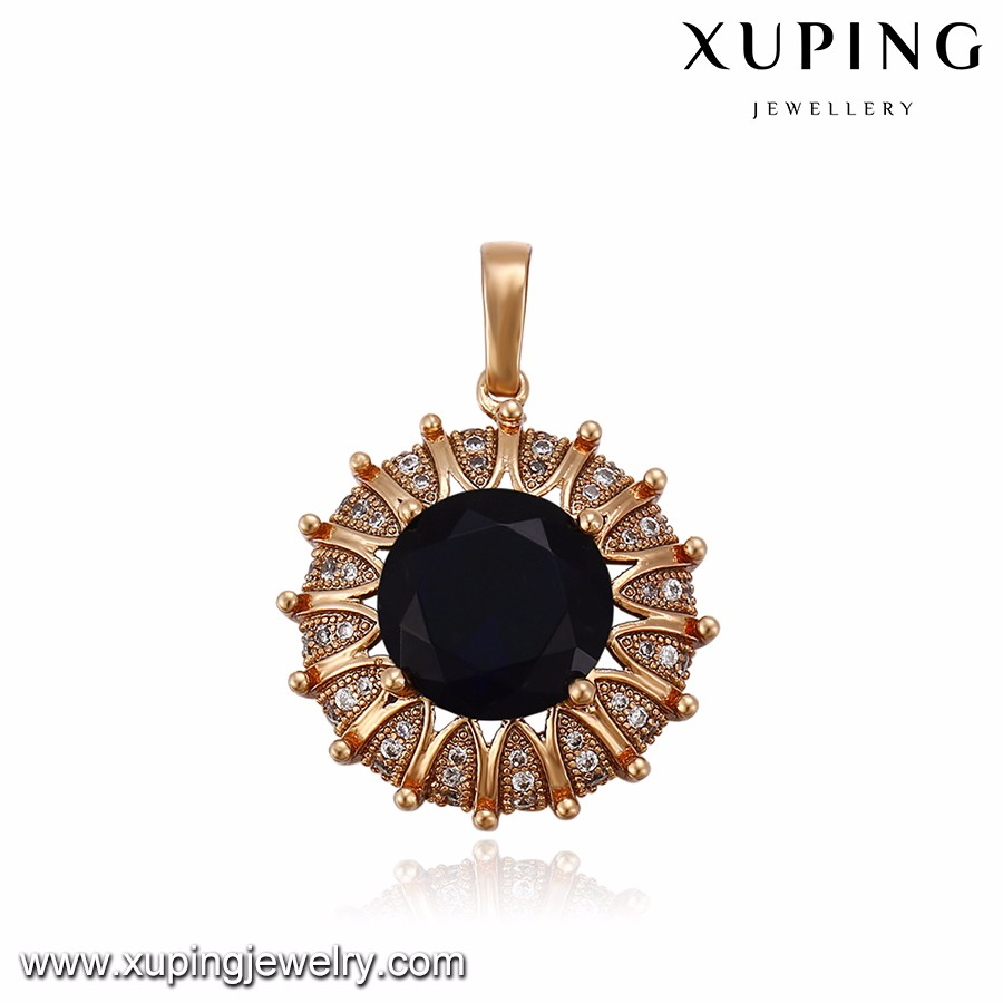 32869 Hot sale elegant ladies jewelry colorful circle Synthetic CZ cow shaped pendant