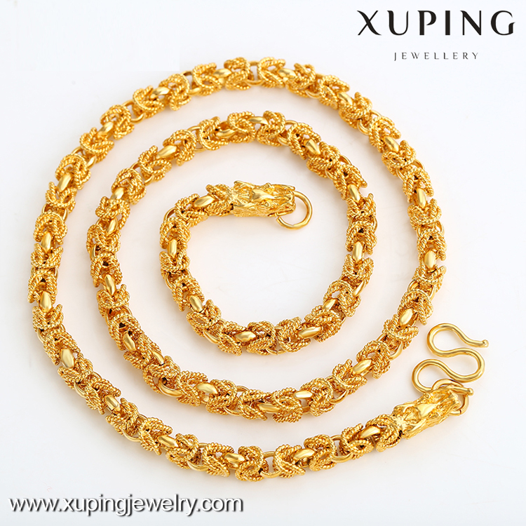 Xuping dubai gold 24K costume jewels new design necklace for women