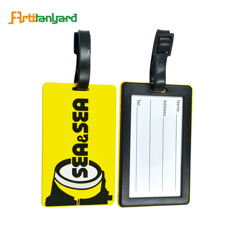 짐 Tag Printer Wholesale 빈 키 빈 여행 Custom Pvc 짐 Tag