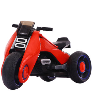 Cool kids electric motorcycle baby ride on bike with wheels light