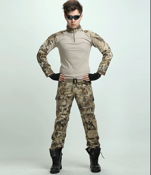 Men Python Lines Airsoft Army Military Uniform Tactical Navy Seal Combat  Frog Suit ( Shirt Or Pants ) With Knee Pads Multicam - Buy Airsoft