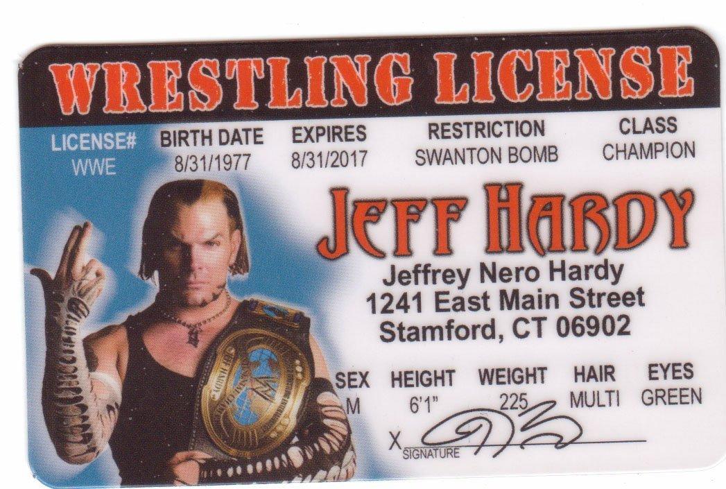 Buy Jeff Hardy Wrestling Novelty Drivers License (Hhh