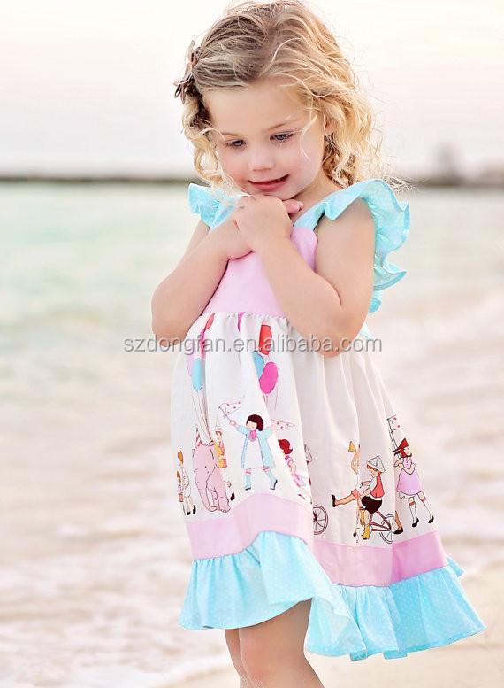 7701f7766 New Arrive Baby Girls Summer Flutter Sleeve Pink Dress Kids Playdate ...