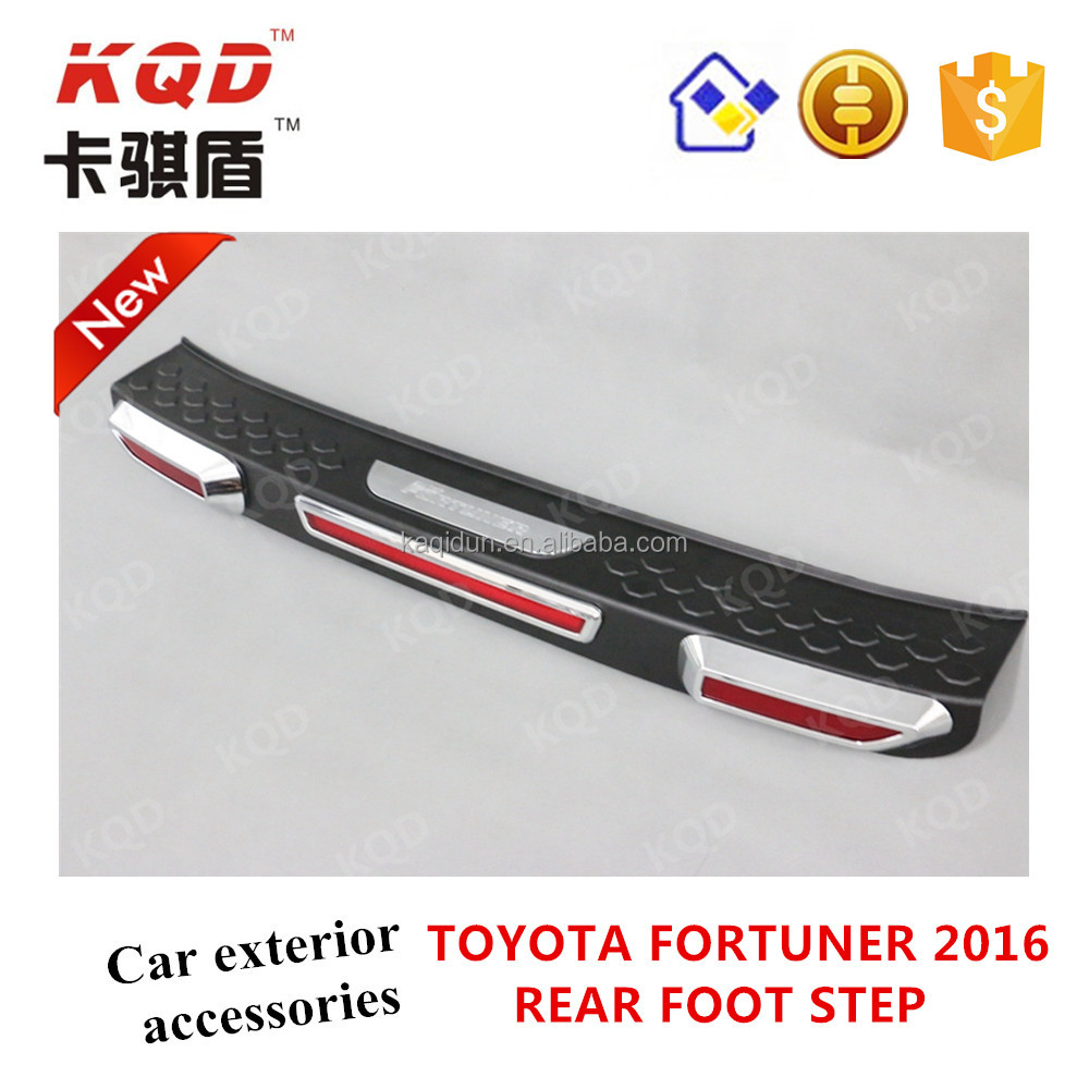 * Black & Chromed Rear foot Step for TOYOTA SUV FORTUNER 2015 best selling new rear side step fortuner suv 2016