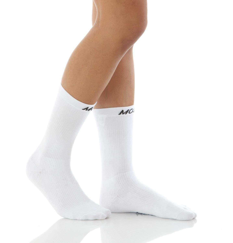 6b1299cc1e Get Quotations · Mojo Coolmax Compression Crew Socks - Medium Support  15-20mmHg, Mid- Calf Length