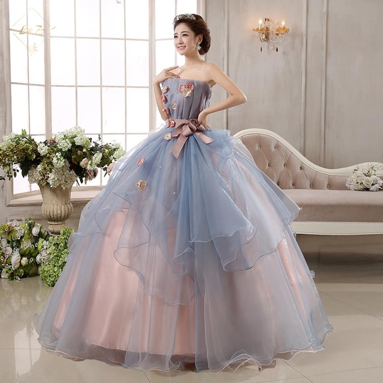 2018 Girls Wedding Gown Elegant Wedding Dress Ball Gown - Buy ...