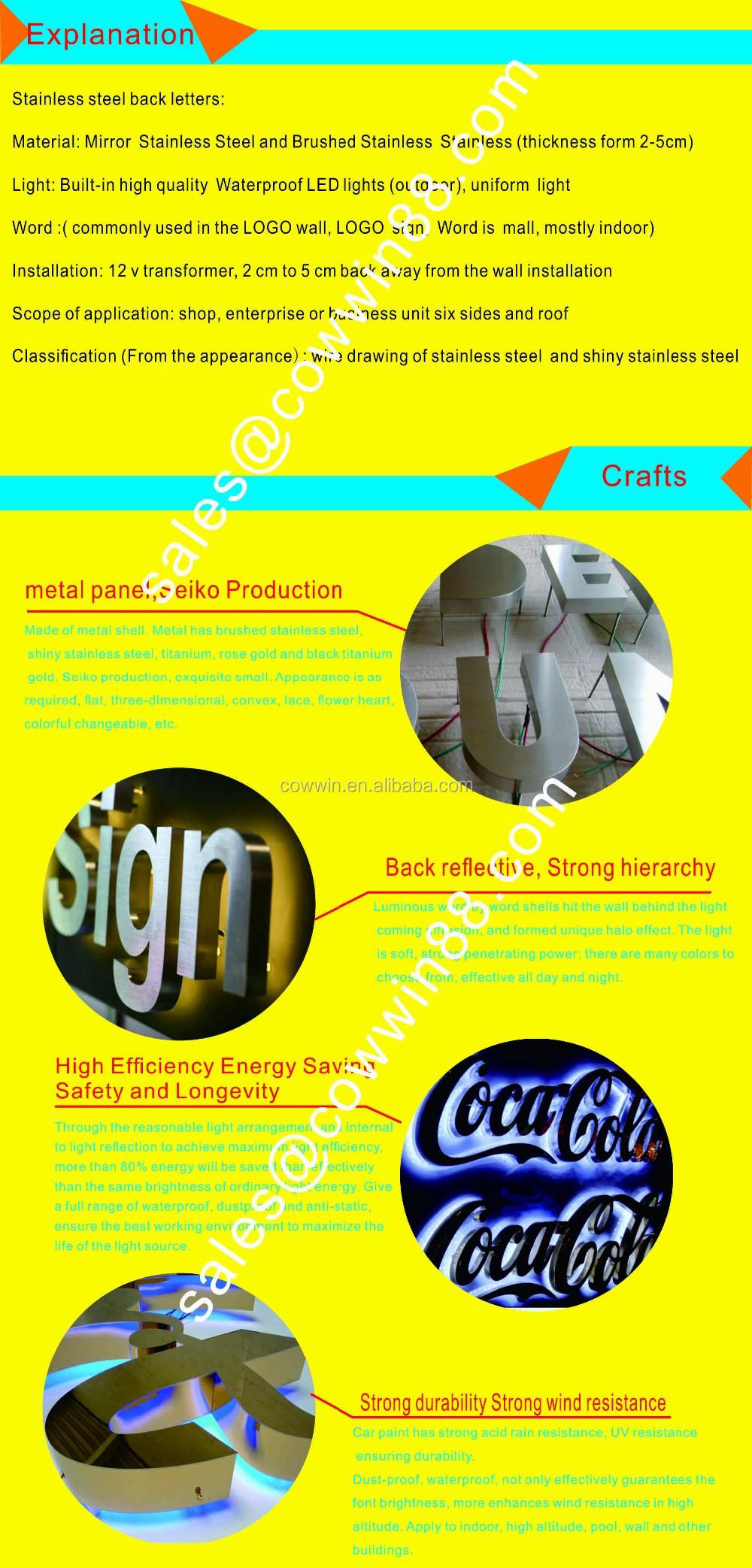 Waterproof Cheap Small Decorative Metal Backlit Alphabet Letters ...