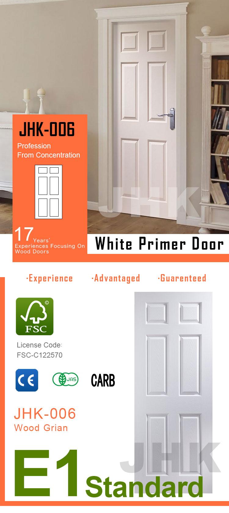 Jhk-006 6 Panel Goedkope Hollow Core Binnendeuren Witte Primer ...