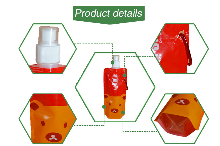 Juice Packaging Disposable Soft Drink Pouch With Spout manufacturer Eco Friendly Customized Plastic Frozen