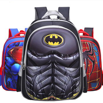 bfa9d0ffcc New Design School Bag Cartoon 3d Batman Child Boy Cool Backpack ...
