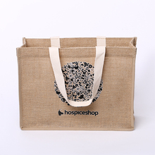 High capacity jute tote bag, hessian shopping bag