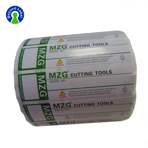 Hot Sales Printing Adhesive Electrical Cutting Tools Packing Labels