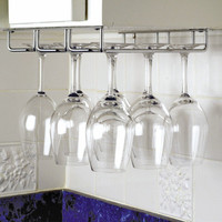 High Quality Chrome Under Stemware wall wine glass rack