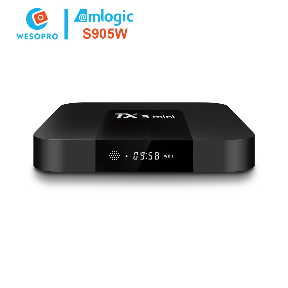 Private label android tv set top box with amlogic S905W for Wholesaler