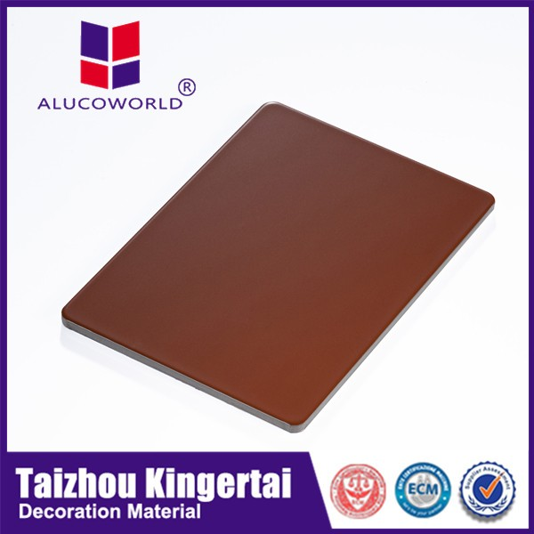 Alucoworld A2 Grade Fireproof Acp Size 5mm Aluminium Composite Panel With Metallic Rose Color