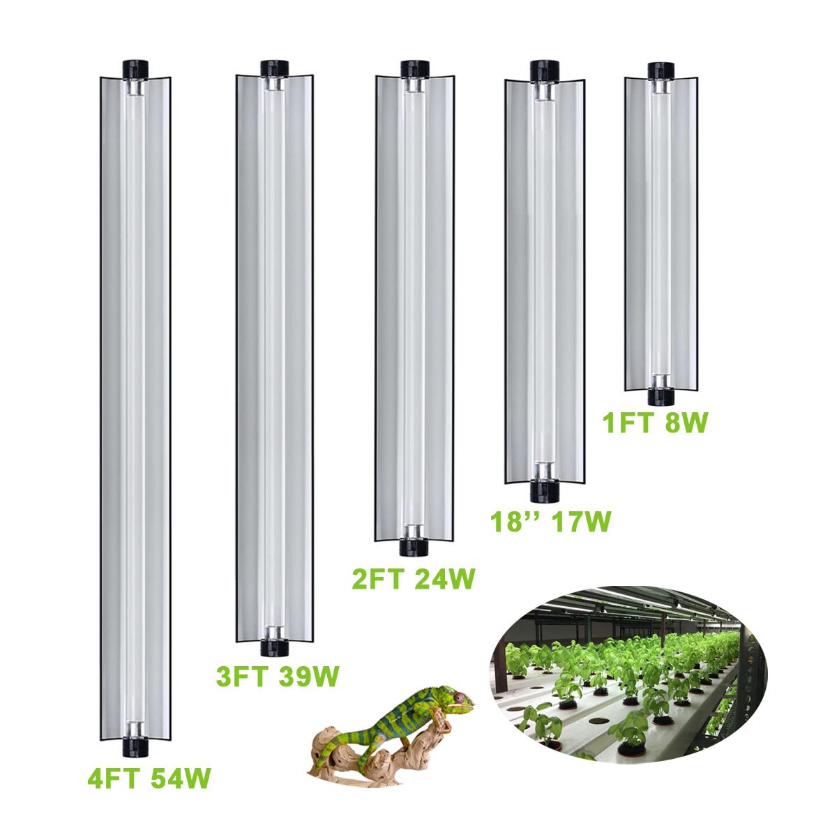 Plant Growth Lamp T5 Fluorescent Reflector Nanotech 24 Inch Edj Watts Grow Light Hydroponic Planter