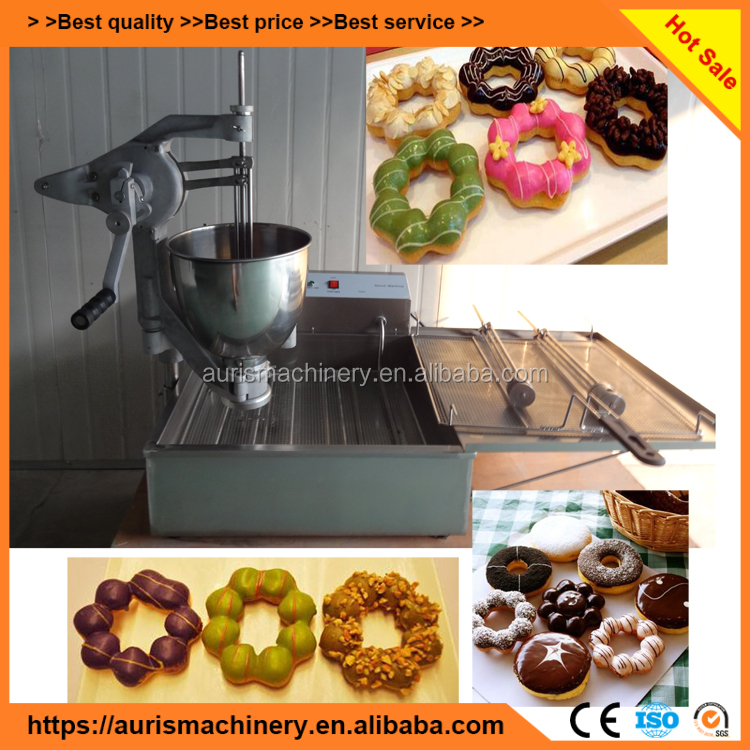 Ce Approved Save Counter Place Electric Manual Baked Mini Donut Machine For Sale