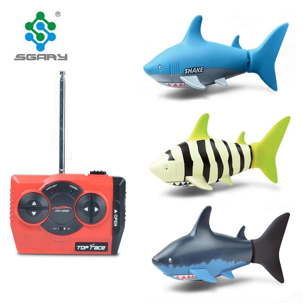 Fernbedienung Spielzeug Ferngesteuertes U-boot 3ch Rc Shark Modell Spielzeug 40 Mhz Radio Fernbedienung Rc Mini Elektronische Rc Schiff Für Kinder Kinder Geburtstag Geschenk