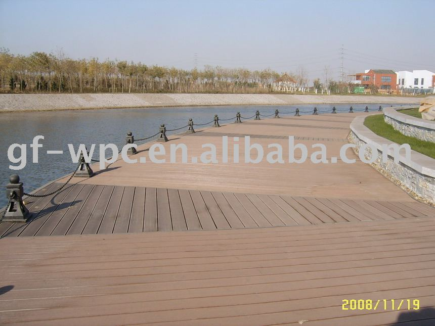 Бамбуковое волокно пластиковый пол снаружи деревянный пластиковый композитный wpc настил доска