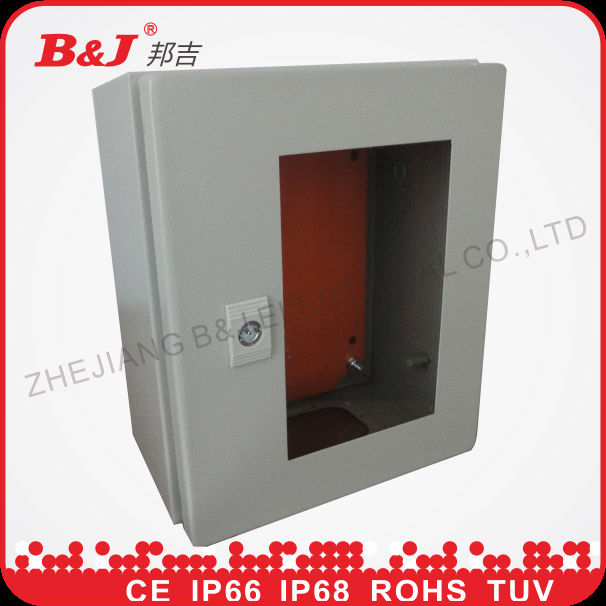 IP66 electrical metal enclosure box with glass window