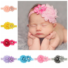 Girls' Hair Accesories Girl's flower Headband Hot Sale girl  Hair rubber band Children Headbands Christmas Gifts Free Shipping