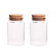 Cylinder Tube Glass Bottles with Cork Crafts Bottles Jars 80ml Empty Jars Containers Bottles