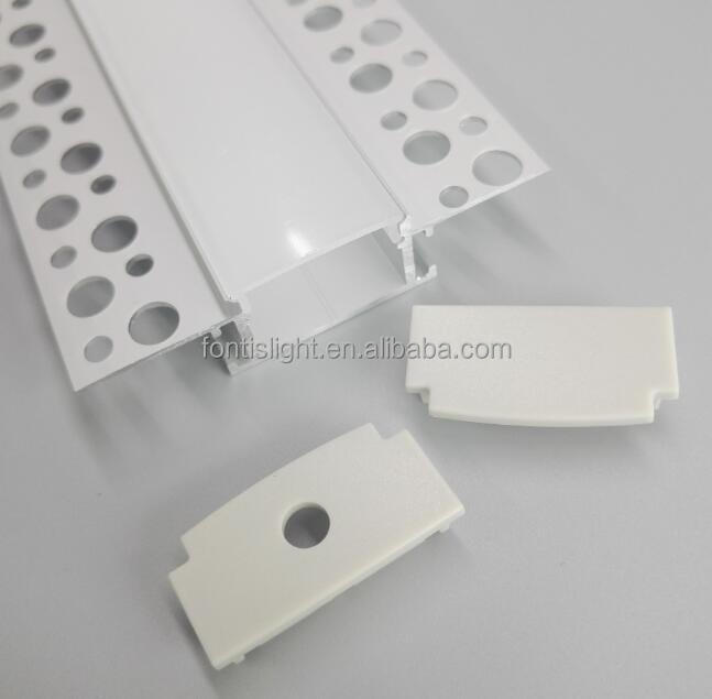 2017 new design Aluminm LED Profile for drywall use/with many holes for fixed