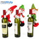 3Pcs Cute Santa Claus & Snowman & Elf Doll Wine Bottle Hold Cover Party Christmas Table Decoration