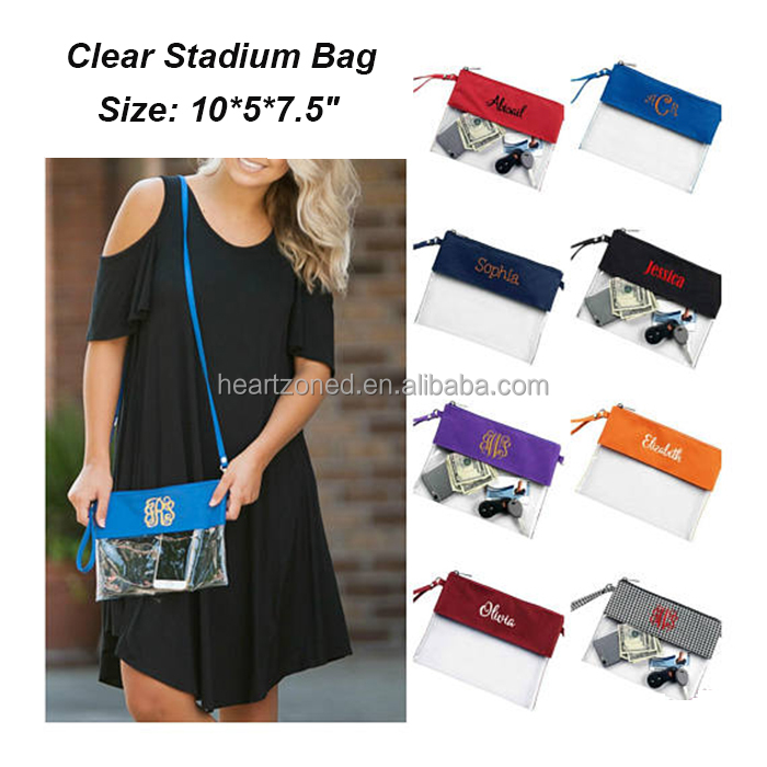 Monogram Crossbody Tote Clear Stadium Bag Product On Alibaba