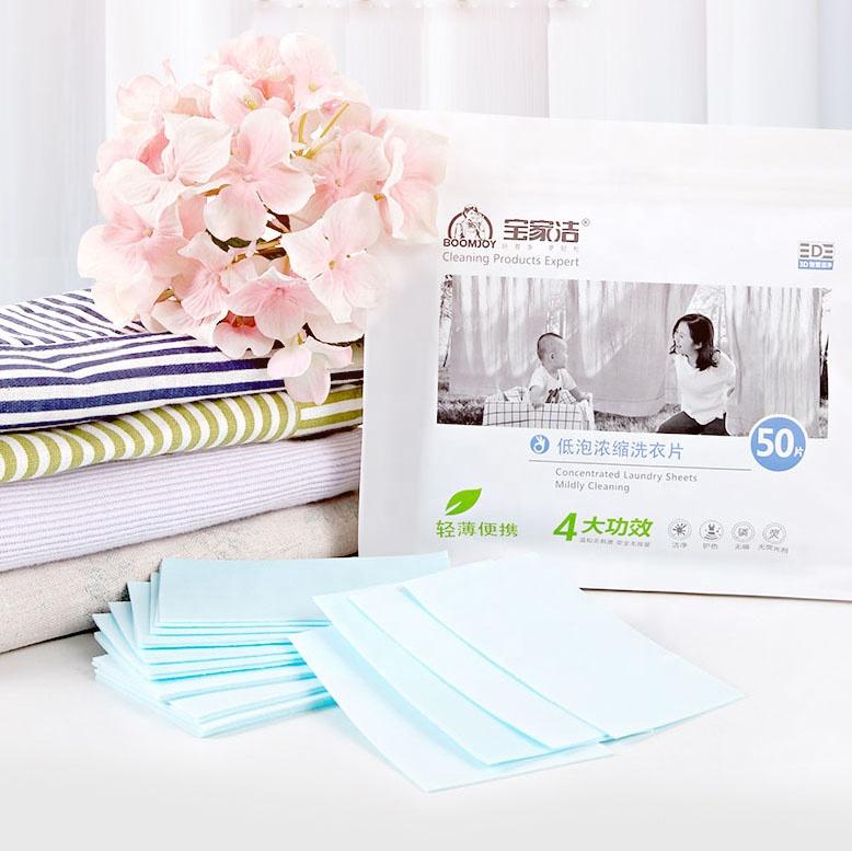 OEM ODM Personalizado Natureza fragrância detergente ambientalmente amigável folha de atacado