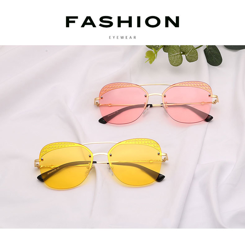 2019 Wholesale Lace General Style Square Frame Mirror Women Sunglasses