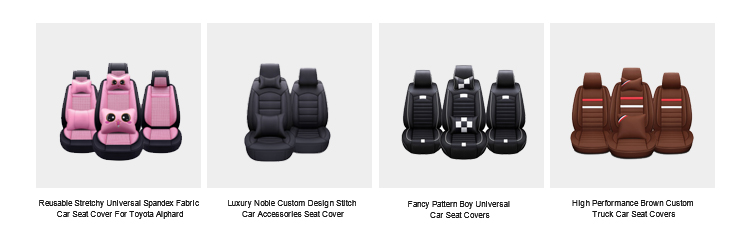 ZT-P-006 black fashion custom made full set seat covers car seat protector pu leather car seat covers universal