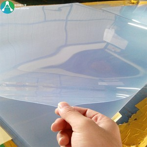 clear blue folding pvc plastic sheet for boxes