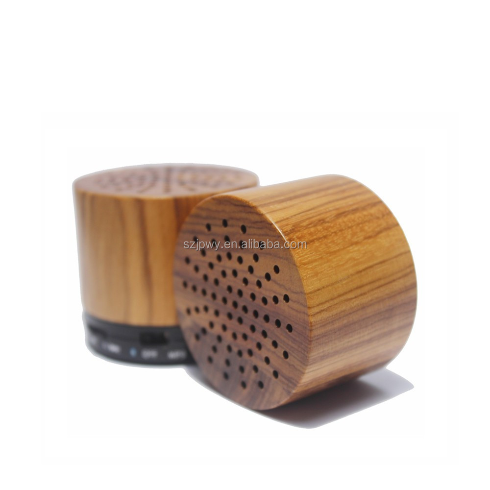 2016 New Wooden body mini waterproof portable speaker with OEM and ODM factory wholesale