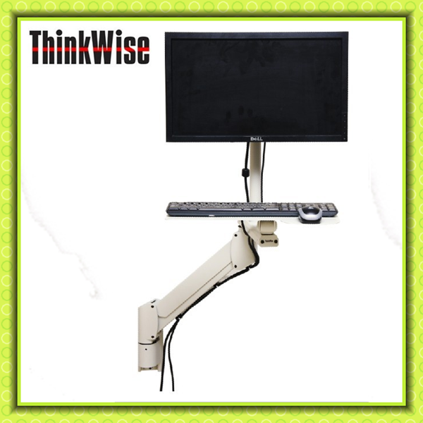 Think Wise G101 industrial computer VESA mounted stand with keyboard tray