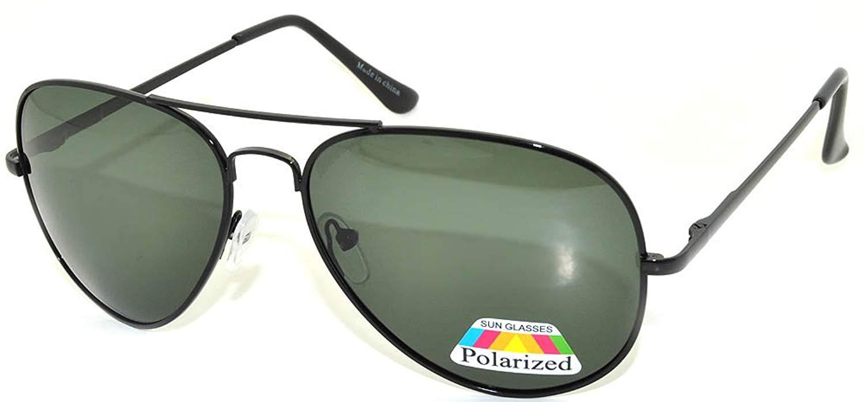 13c81f86cb05 Get Quotations · Classic Aviator Style Green Lens Sunglasses Metal Frame  Black Color