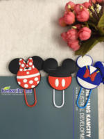 Custom cartoon pvc Bookmark