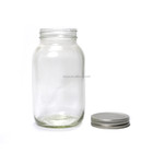 Eco glass jar 32 oz w/gold lid for honey
