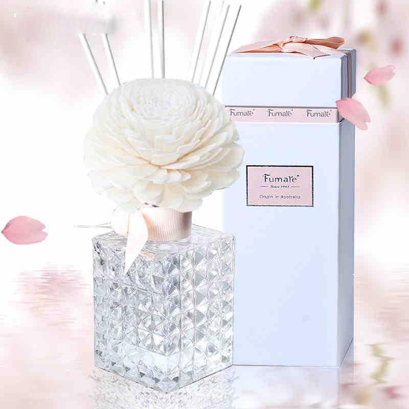 Aromatherapy Essential Oil Set Flameless Rattan Dried Flowers Fragrance Perfume Reed Diffuser