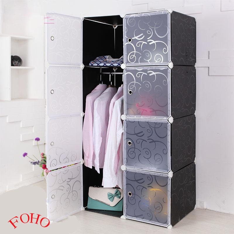2014 caliente venta de plástico negro armario para la ropa ...