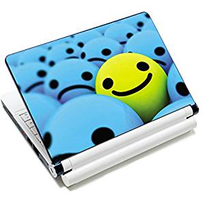 "Universal Size Laptop Notbook Decal Skin Sticker Protector Laptop Skin For 7"" 8.9"" 10"" 10.1"" 10.2"" Laptop Notebook,Includes 2 Wrist Pads, smile"