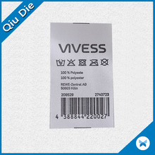 wholesale garment woven label / tag / customized clothing silk screen label printing