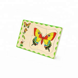 butterfly montessori educational wooden puzzle toys for children