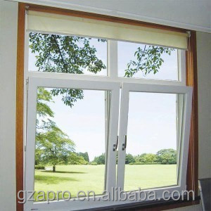 Aluminium Window Tilt and Turn Window top hung window with Grills Design