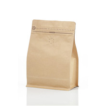 0.5lb 250g 8 oz Papel Fundo Plano Kraft Stand Up Pouch Coffee Bag com Zipper & Válvula